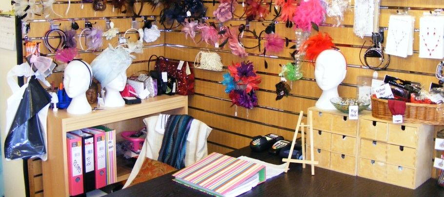 Jewellery, scarves, earrings and fascinators available from Carols Alterations