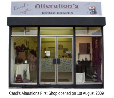 Carols Alterations First Shop